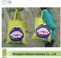 Organic Cotton Tote Bag/ Yellow Cotton Summer Bag/ Marketing Bag
