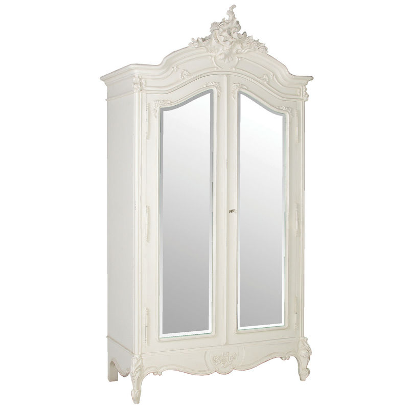 Lombardia Wardrobe 2 Doors Antique French