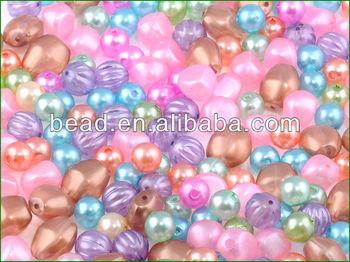 Arylic pearl beads
