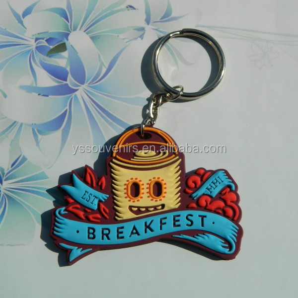 Custom key chain parts, soft pvc 3d key chain
