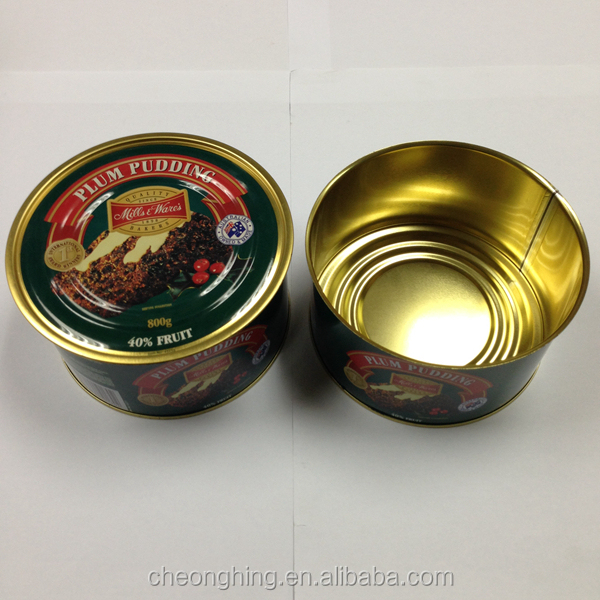 Coffee powder easy open tin can