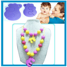 2014 Multicolorr Silicone Necklace BPA Free Food Grade Silicone Beads Approved by FDA