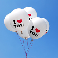 I LOVE YOU printed romantic wedding balloons