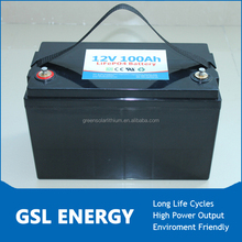 Good performance 12V 100Ah lifepo4 battery for automotive