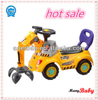 China GOOD Plastic Baby Car / price baby excavator car with music and horn