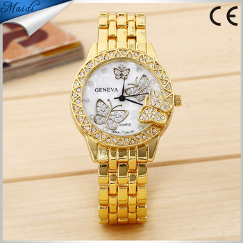 New Fashion Women Wrsit Watch Exquisite Luxury Women Diamond Butterfly Watch Quartz For Special Gift Relogio GW055
