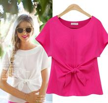 Z81969B newest lady patch work in blouse women chiffon blouse 2016 clothes