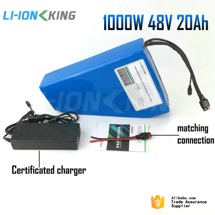 Free Shipping EU AU USA No Tax Nylon Bag Plus Charger 30A BMS 1000W Triangle 48V 20Ah Battery Pack