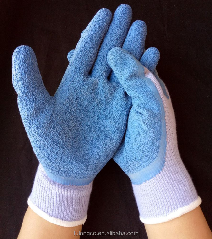 polycotton 3/4 coated latex for hand job glove super soft