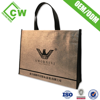 Wholesale Custom Promotional Foldable Laminated Tote PP Woven Shopping Bag