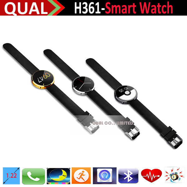 Multi feature 1.22 inch round smart watches IOS and Android smart watch phone h361 supports mobile synchronization Q