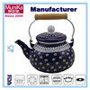tea pots,enamel tea kettles/enamel 2.3L teapot kettle/Wooden Handle Teapot,the tea kettle with flower decal,