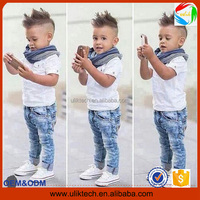 boys clothing sets children clothing set short sleeved T-shirt + jeans 2 pcs boy clothes suit retail kids clothing sets boys