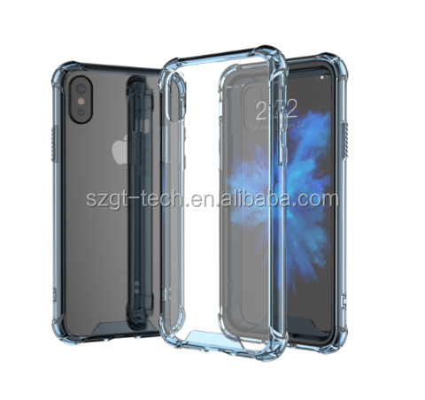 hot selling transparent TPU shock proof phone case for iphone x case luxury crystal clear back covers for iphone X