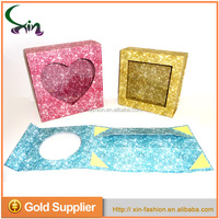 High quality recyclable 4C printing paper clear window small folding gift box