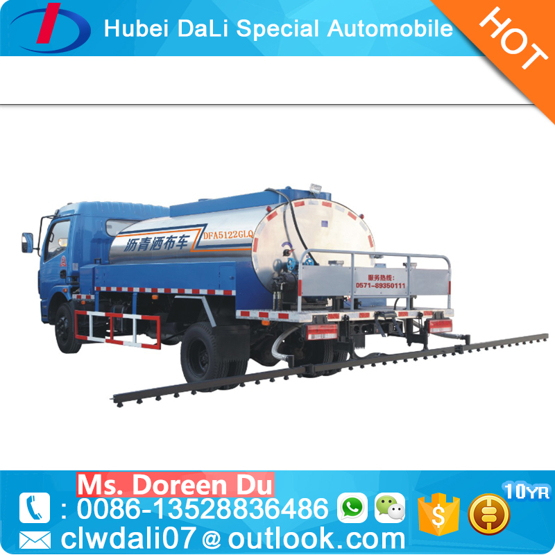 Used Dongfeng 6 Tons small bitumen sprayer truck for sale with cheap price