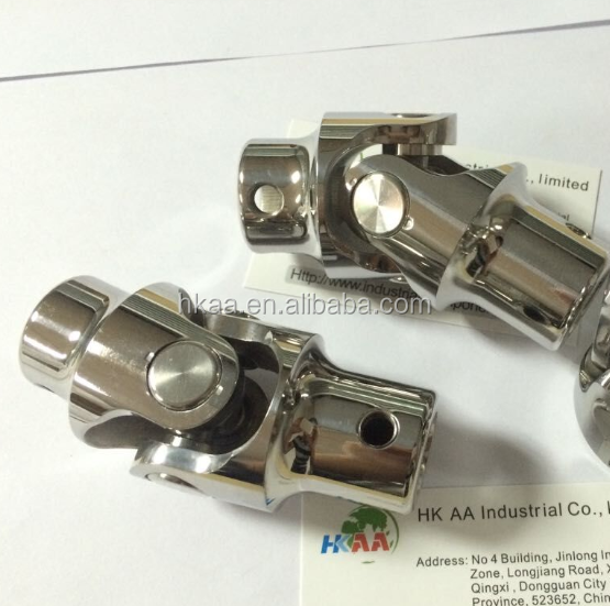 High quality Custom Stainless Steel Precision Single / Double Universal Coupling / Universal Joint Coupling / Steering joint