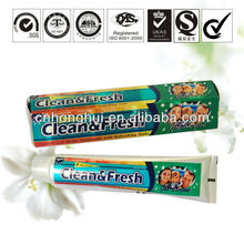 130g private label gel color bar clean&fresh OEM fluorie free toothpaste brands