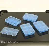 Food grade plastic material hard box with caps customize