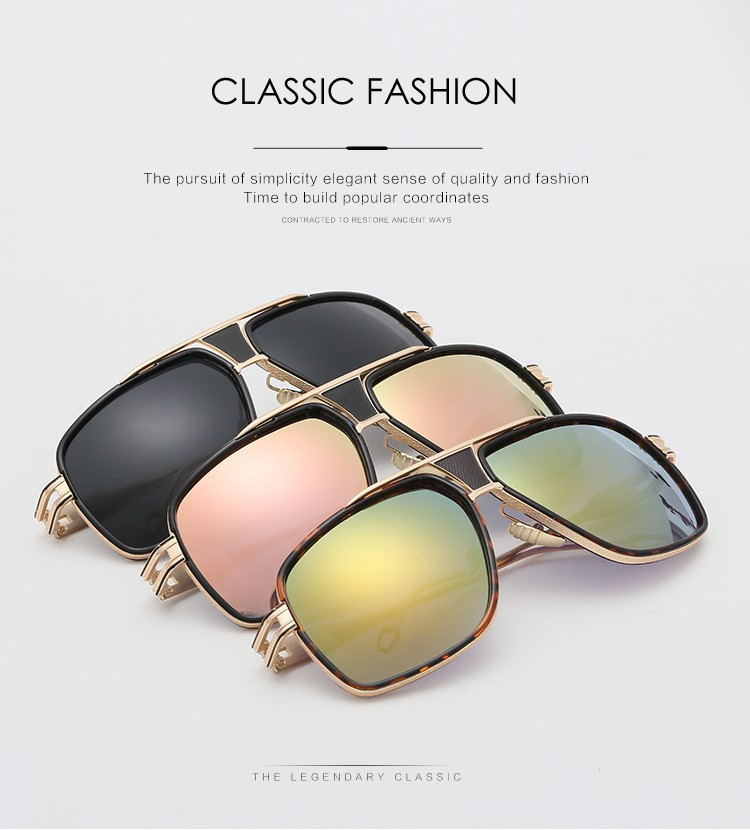 New Fashion Sunglasses Men Brand Design Vintage Big Frame Goggle Summer Style Sun Glasses for Men Oculos De Sol UV400 CC5060