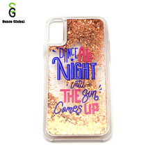 OEM 5 inch mobile phone case glitter smart phone cover for iphone10