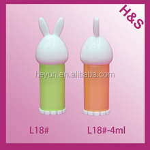 4ml 5ml L15# Best selling!animal shaped cute lip balm container/lip balm container/lip balm tube