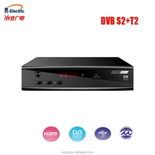Yes FTA(Free To Air) and Yes High Definition class hd receiver combo dvb-s2 dvb-t2 satellite receiver