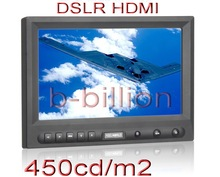 "8"" DSLR 1080p HDMI 450cd/m RCA AV VGA 16:9 TFT LED Monitor On Camera Hot Shoe"