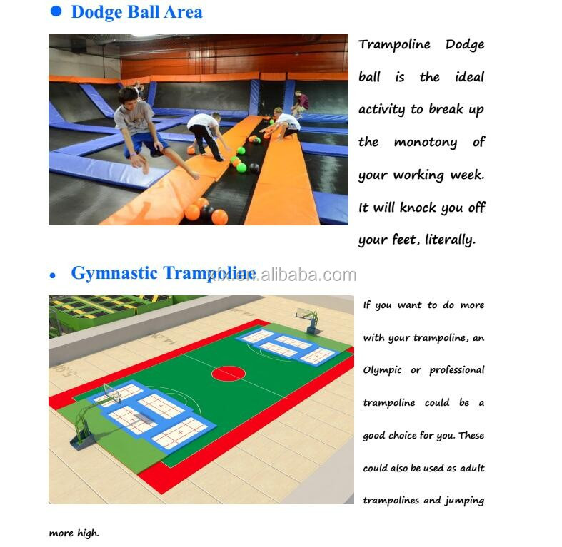 Sky Jumping Amusement Park Gymnastics Trampoline Park With