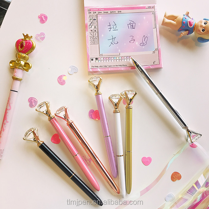 The Chinese factory good quality diamond head twisting, ball-point pen/gift pen in the promotion