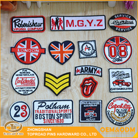 Embroidered patches logo custom diy decorative sew on embroidery patches for clothing