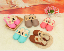 S10370A 2015 new comfort fashion warm women men winter pure color slippers