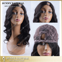 Alibaba shop high density cheap human hair u part side part lace front wig