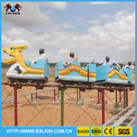 Christmas roller coaster sliding dragon for outdoor funfair