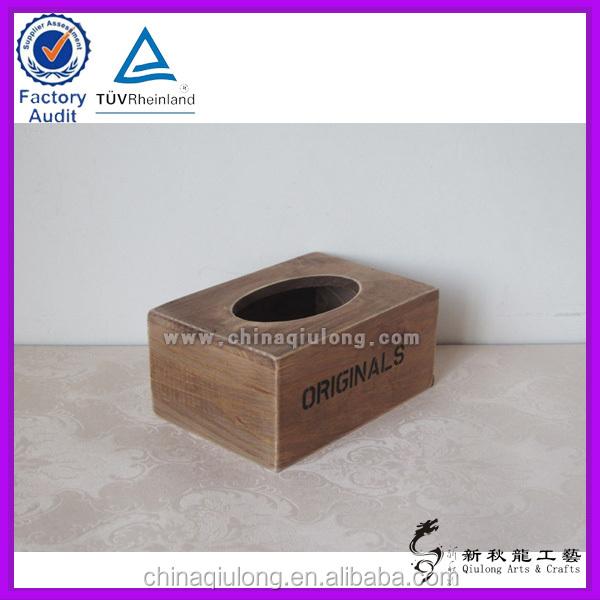 Customized Wholesale Wood Crafts Tissue Box