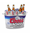 square metal ice bucket,6L galvanized bucket for beer