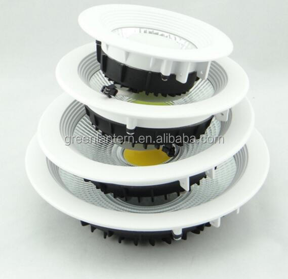 recessed light led <strong>downlight</strong> COB led <strong>downlight</strong> 5w 10w 15w 20w 30w 3inch 4inch 5inch 6inch
