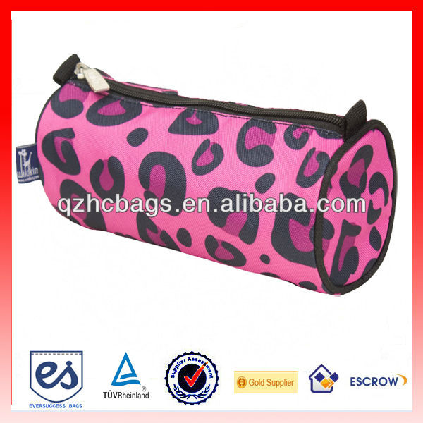 Promotional Cheap Zippered Round Pencil Pouch