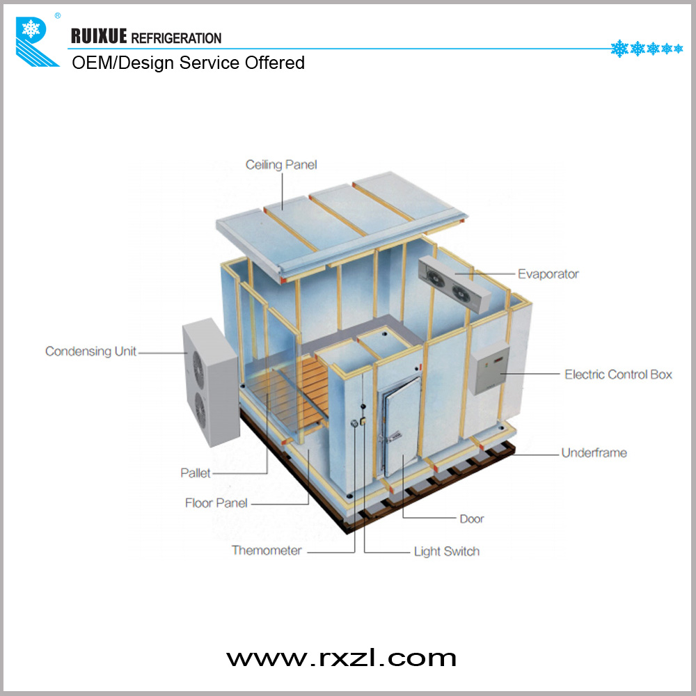 Commercial Refrigeration Equipment Used Cold Room Build , Food Cold Storage  Room Buildings