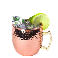 High Quality Vacumm Insulated Beer Mug 16oz Stainless Steel Copper Moscow Mule Drinking Mug