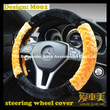 warm heated velour embedded steering wheel cover auto parts car interior accessories supplier