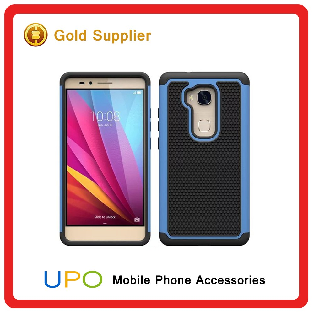 [UPO] New Design 3 in 1 Shockproof Hybrid Plastic Silicon Mobile Phone Case for Huawei Honor 5x