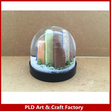 Plastic Building Snowglobe/Promotional Building Snowglobe/Snowglobe with brand logo Printing on the base