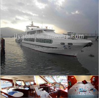 115' fiberglass china luxury yacht for sale