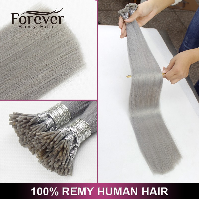 Hair factory no shed no tangle wholesale price double drawn remy i tip hair extension