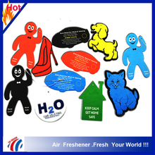 factory customized advertising car air freshener hanging/ custom car wash Unique unscented air freshener paper