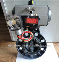 Pneumatic Plastic Butterfly Valve