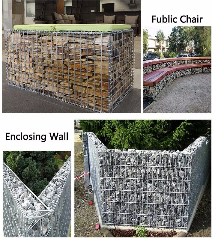 1x1x1m 1x1x2m galvanized galfan gabion basket for protecting