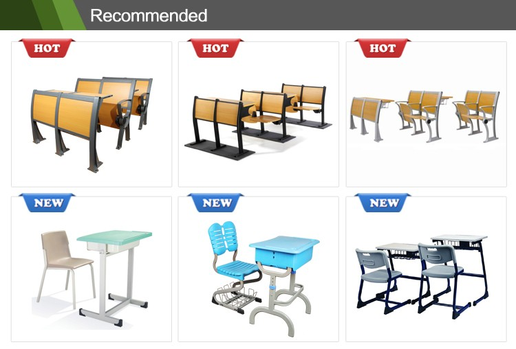 Durable modern school furniture school chair with writing pad CT-203