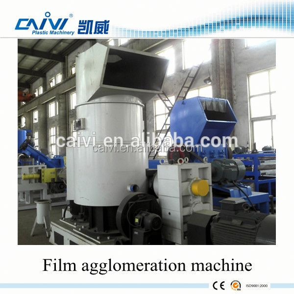 Polyethylene Plastic Agglomerator For PE Film , Waste Bag